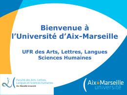 La scolarité - Faculté des arts, lettres, langues, sciences humaines