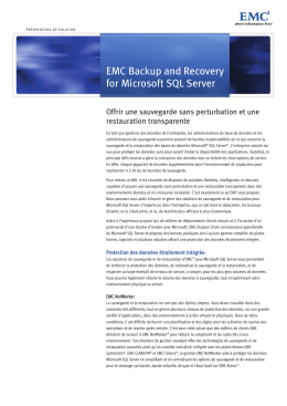 EMC Backup and Recovery for Microsoft SQL Server