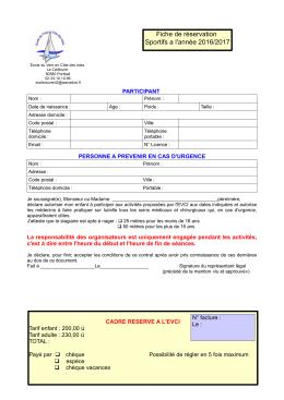 fiche inscription sportifs - Ecole de voile de Portbail