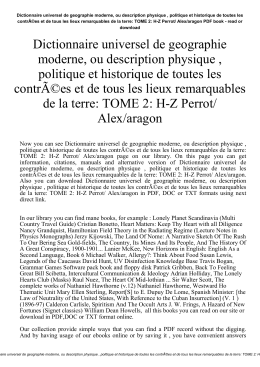 Dictionnaire universel de geographie moderne, ou description