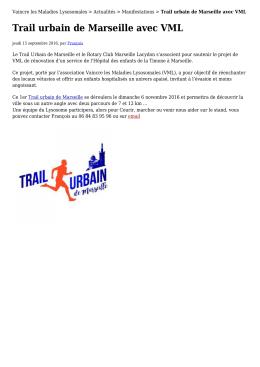 Trail urbain de Marseille avec VML