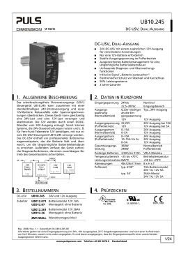 UB10.245 - PULS Power Supply