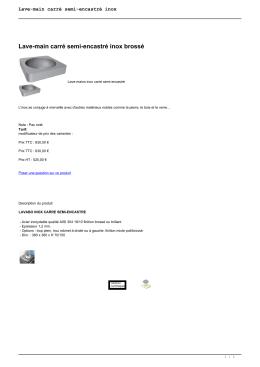 Lave-main carré semi-encastré inox