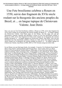 Une Fete bresilienne celebree a Rouen en 1550, suivie dun