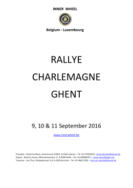 rallye charlemagne ghent