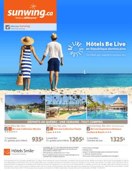 Les hôtels Be Live en République dominicaine en