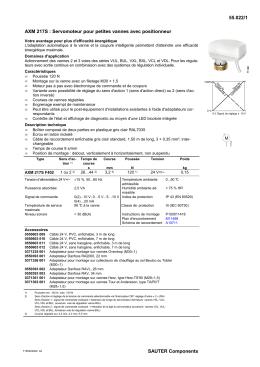 55.022/1 SAUTER Components AXM 217S : Servomoteur pour