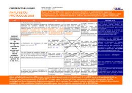 analyse du protocole 2016 - USAC-CGT
