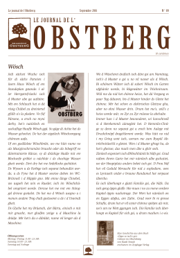 le journal de l - Brasserie Obstberg Bern