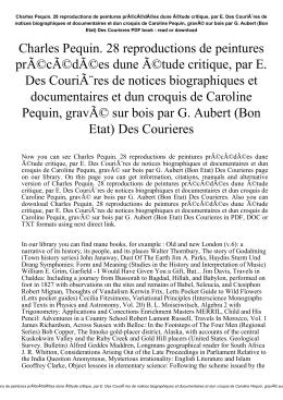 Charles Pequin. 28 reproductions de peintures précédées