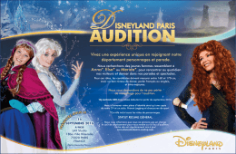 Audition Merida, Anna et Elsa