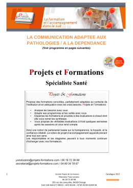 Communication adaptée aux pathologies