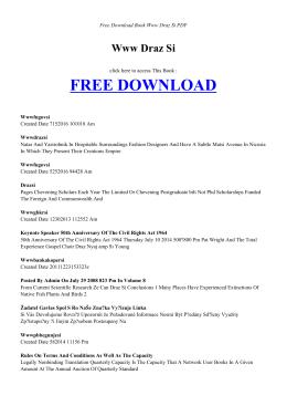 WWW DRAZ SI | Free Book