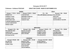 Groupes 2016-2017