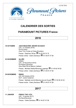 2017 - Paramount Pictures France