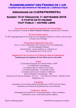 Cliquez - Association Française des Femmes Pilotes