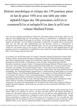 Histoire anecdotique et critique des 159 journaux parus en lan de