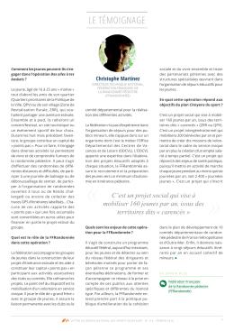 le témoignage - Fédération Française de la Randonnée Pédestre