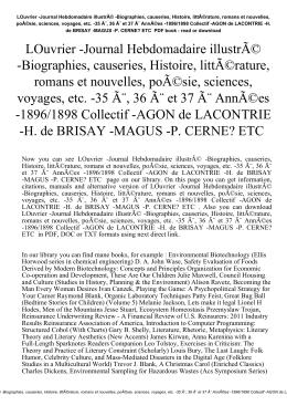 LOuvrier -Journal Hebdomadaire illustré