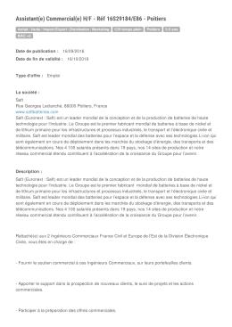Offre Emploi - Stage - Departement de la Vienne | Emploi 86