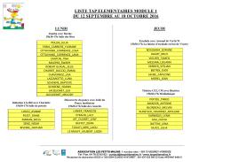 liste tap elementaires module 1 du 12 septembre