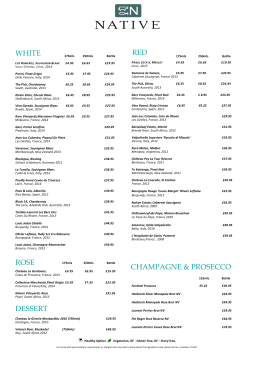 Wine Menu - Native Restaurant, Aberdeen