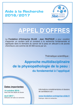 Affiche appels d`offres Fondation_Jean_Paufique_2016_2017