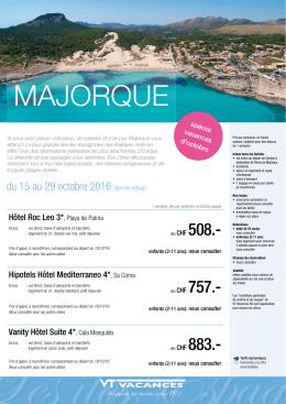 majorque - Aerovoyages