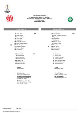 1. FSV Mainz 05 AS Saint-Étienne