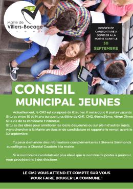 Flyer pour le conseil municipal jeunes