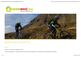 Big Mountain Surprise Tour | Bergrad Mountainbiketours