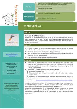 Fiche action 24 - Ministère du Travail, de l`Emploi, de la Formation