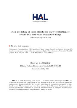 RTL modeling of laser attacks for early evaluation of - Tel