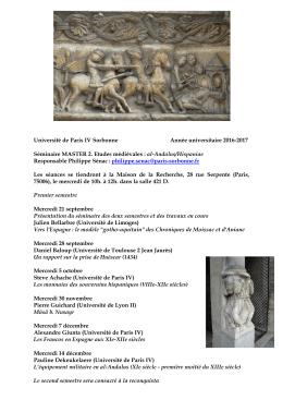 Etudes médiévales : al-Andalus/Hispaniae