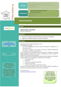 Fiche action 14 - Ministère du Travail, de l`Emploi, de la Formation