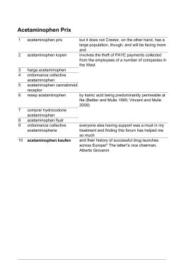 Acetaminophen Prix - Acetaminophen Cannabinoid Receptor
