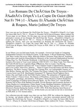 Les Romans De Chrétien De Troyes
