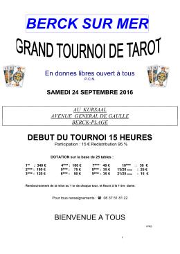 berck sur mer - Tarot Club du Boulonnais