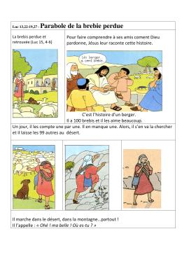 Luc 13,22-19,27 - Parabole de la brebie perdue - Over-blog