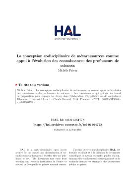 La conception codisciplinaire de métaressources - HAL