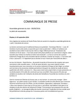communique de presse - Aulne Photo-Club