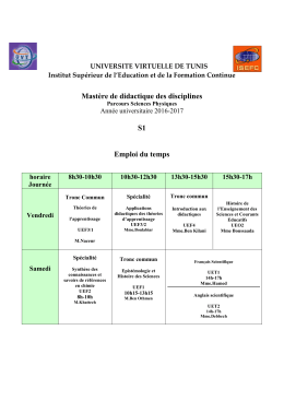UNIVERSITE VIRTUELLE DE TUNIS
