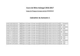 Cours Mme Aslangul semestre 1 - Université Paris