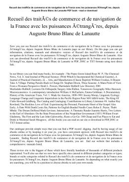 Recueil des traités de commerce et de navigation de la France