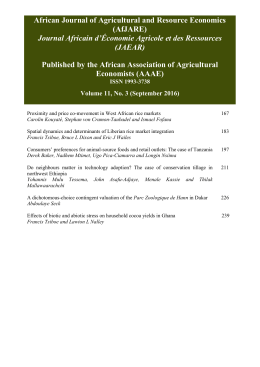 Contents - The African Journal of Agricultural and Resource