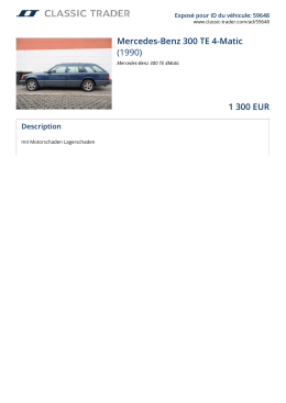 Mercedes-Benz 300 TE 4-Matic (1990) 1 300 EUR