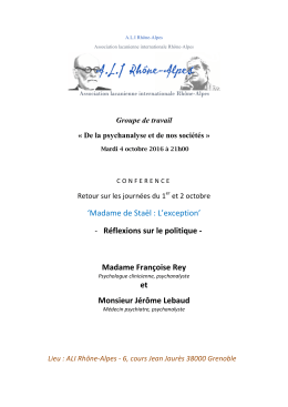 Conférence - ALI Rhône
