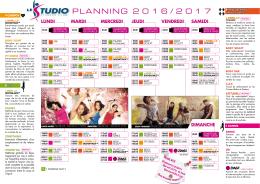 PLANNING Saison 2016-2017