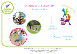 le catalogue 2016-17