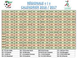 calendriers régional 1 et 2